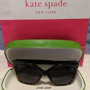 Kate Spade Sunglasses (Black and Tortoise)
